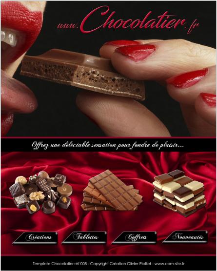 Chocolatiers, vous souhaitez un site de qualité pour présenter vos créations... www.com-site. fr est spécialisé dans la réalisation de site professionnel