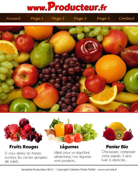 template pour producteur de fruits