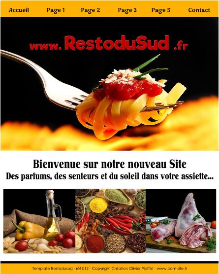 besoin de site pour votre restaurant, conception personnalisée, contacter Olivier Pioffet au 06 23 83 44 66